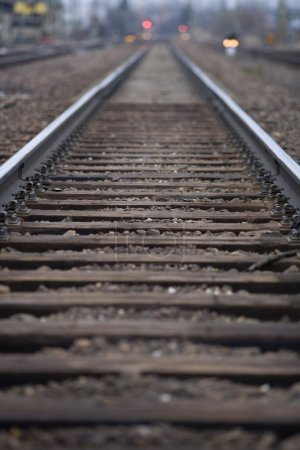 Photo pour Chemins de fer à focalisation sélective - image libre de droit