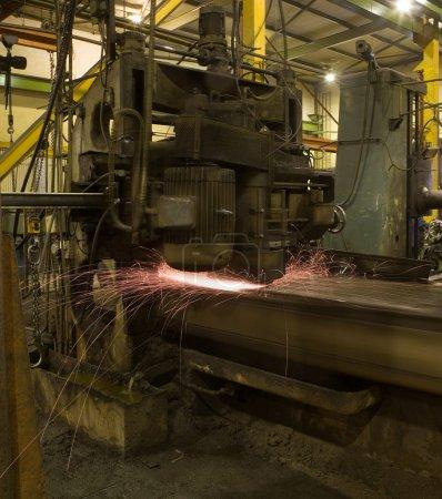 Photo pour Fonte du fer dans une industrie rétro - image libre de droit