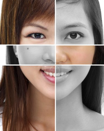 Photo for Collage of different women face - Royalty Free Image