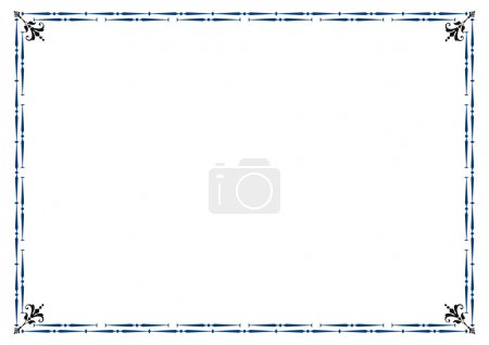 Illustration pour Cadre mignon et simple que vous pouvez utiliser comme cadre de diplôme - image libre de droit