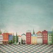 Colorful toy town. Background or an illustration f...