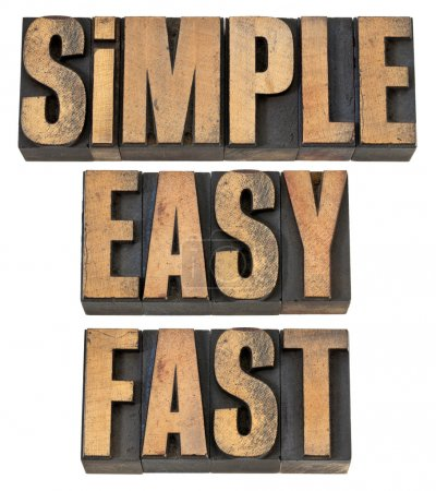Simple, easy and fast in wood type