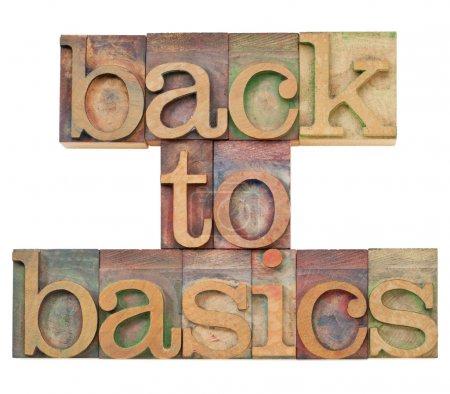 Back to basics in letterpress type