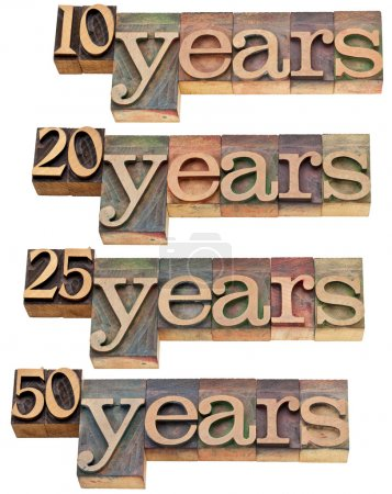 Anniversary concept - 10, 20 ,25, 50 years - isola...