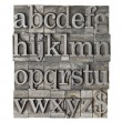 English alphabet (lowercase) and dollar sign in vi...