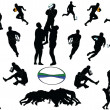 Illustration of rugby collection - vector...