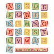 Image of various colorful blocks with the alphabet...
