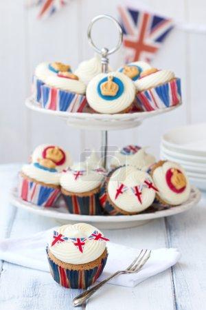 Photo pour Petits gâteaux pour célébrer le Jubilé de diamant de la Reine elizabeth ii - image libre de droit