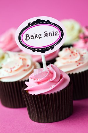 Photo for Bake sale cupcakes - Royalty Free Image