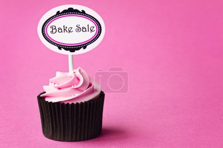 Photo for Bake sale cupcake with space for copy - Royalty Free Image