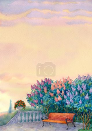 Watercolor romantic background