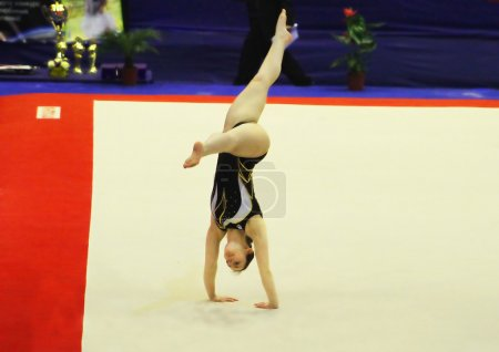"Carmen Horvat (Slovenia) does exercises at sporting gymnastics ""Cup of Olympic Champion Stella Zakharova"""