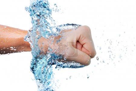 Fist through water