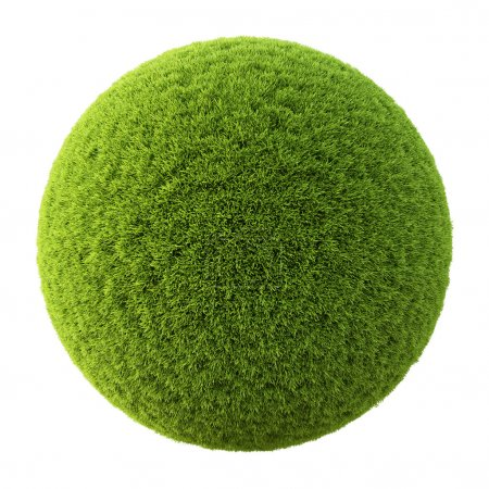 Photo for Green grass ball. Isolated on white. - Royalty Free Image