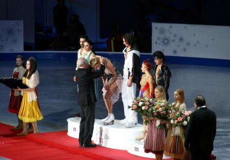 Gold medals for Maxim Shabalin and Oksana Domnina (Russia)