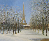 "Постер, картина, фотообои ""Зима в Париже"""