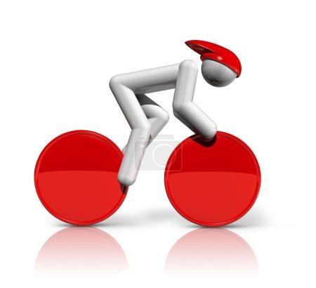 Cycling Track 3D symbol