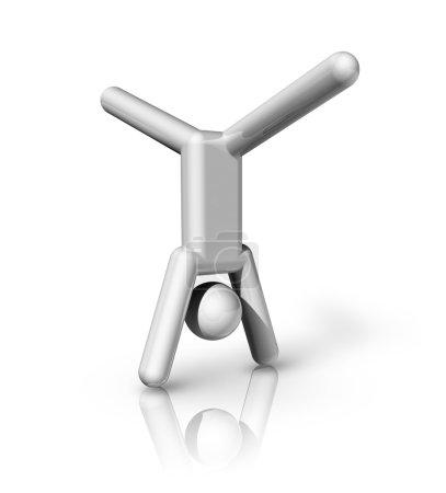 Gymnastics Artistic 3D symbol