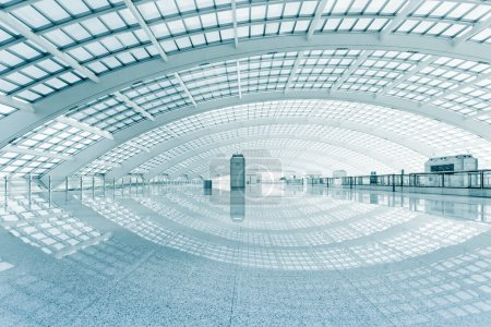 Photo for Modern hall of subway station at T3 airport in beijing china. - Royalty Free Image