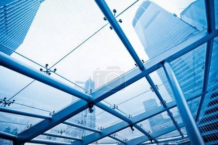 Photo for View through the window, Skyscrapers at Lujiazui Financial Center of shanghai china. - Royalty Free Image