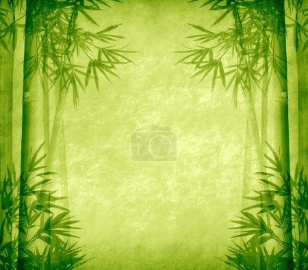 Photo for Design of chinese bamboo trees with texture of handmade paper - Royalty Free Image