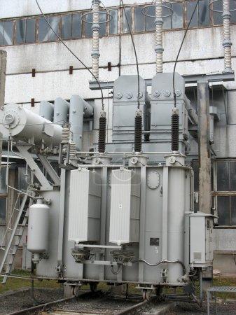 Huge industrial high voltage converter at power plant