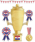 Croatia football trophy