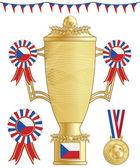 Czech republic football trophy