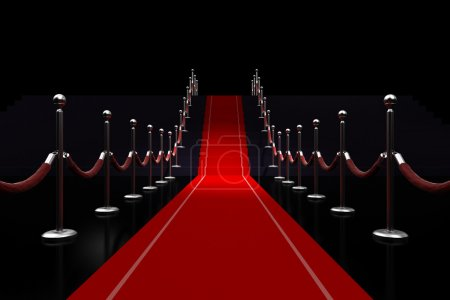 Photo pour 3D illustration de tapis rouge - image libre de droit