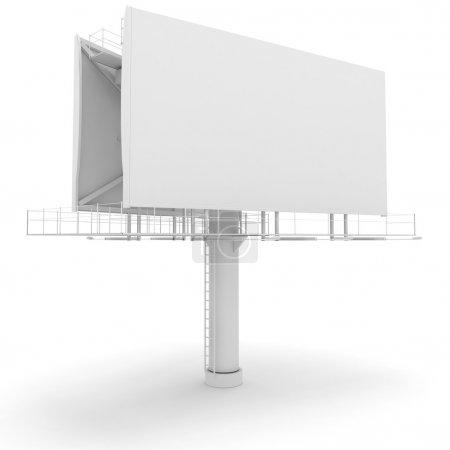 Photo pour Panneau d'affichage vide 3D - image libre de droit
