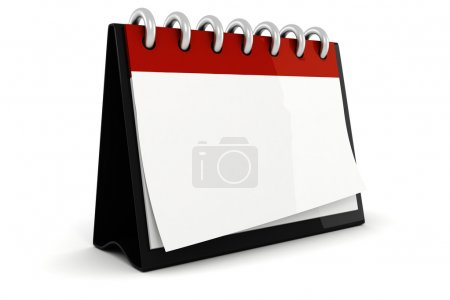 3d blank calendar illustration