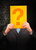 Businessman questioning
