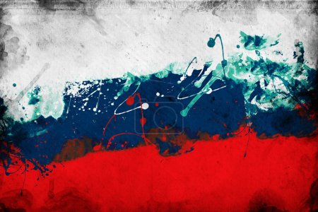 Photo for Grunge Russian flag, image is overlaying a detailed grungy texture - Royalty Free Image