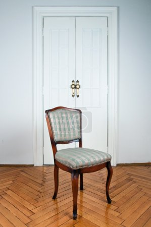 Vintage chair in the room