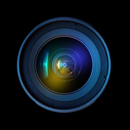 Foto de Cerrar la imagen de una lente réflex digital amplia - Imagen libre de derechos