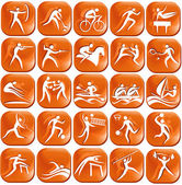 Set of abstract sport icons