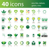 40 icons: eco bio nature green misc