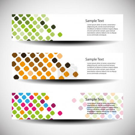 Illustration for Colorful Banners with Abstract Designs in Freely Scalable and Editable Vector Format - Royalty Free Image