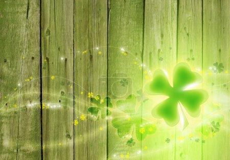Photo pour Jour de St. Patricks fond. Fond de trèfle . - image libre de droit