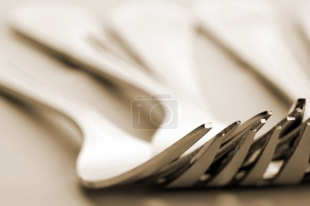 Group of silver forks