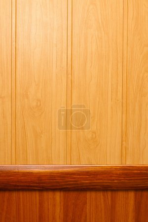 Photo for Wooden texture background of two different materials - Royalty Free Image