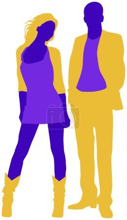 silhouette de l'homme et la femme