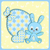 Baby arrival card Rabbit