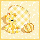 Baby card Bear and ball