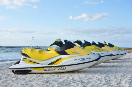 Sea-Doo Personal Water Craft (PWC) on a Tropical Beach