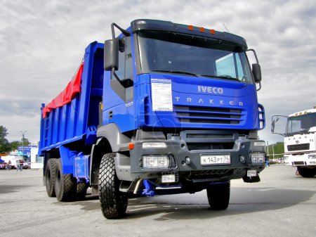 Dump truck IVECO Trakker exhibited at the annual M...