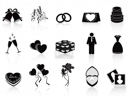 Foto de Iconos de boda negro para diseño de boda - Imagen libre de derechos