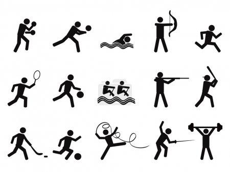 Sport silhouettes icon