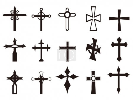 Religious cross symbol set