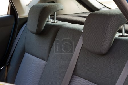 Photo for Car interior - back car seats with active headrest - Royalty Free Image